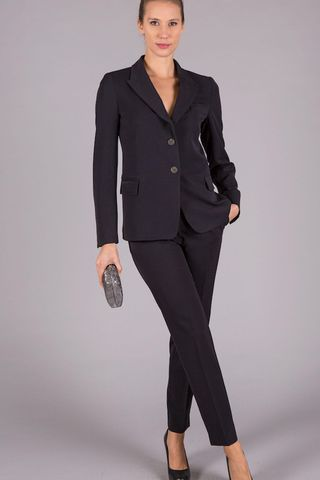 navy trouser suit Angelico