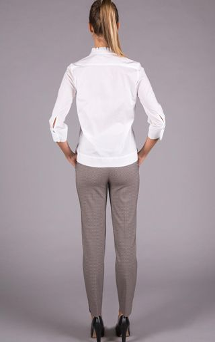camicia bianca rouche Angelico