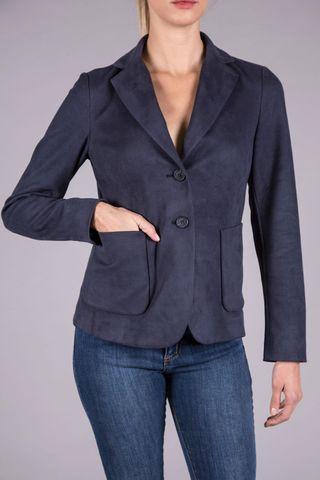giacca blu alcantara Angelico