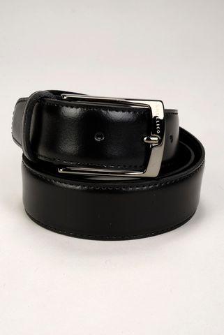 Cintura nera vitello soave cucita Angelico