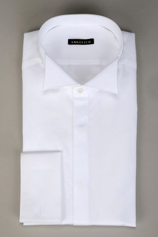 white diplomatic shirt double cuff slim Angelico