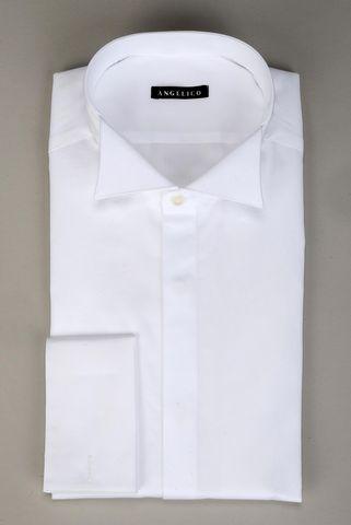 Camicia bianca diplomatica gemelli slim Angelico