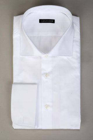 Camicia bianca polso doppio gemelli Angelico