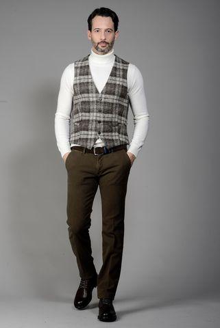 brown-grey scottish waistcoat Angelico