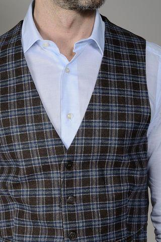 brown-blue scottish waistcoat Angelico