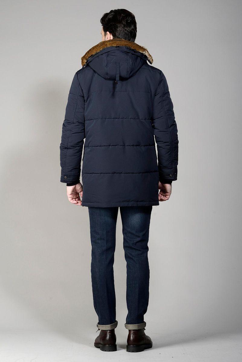 giaccone blu tasconi e cappuccio Angelico
