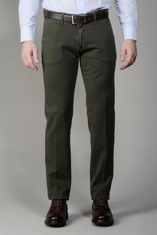 green trousers dyed cotton diagonally slim Angelico