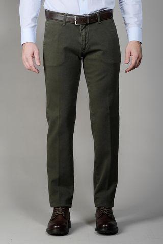 Pantalone verdone tinto capo slim Angelico
