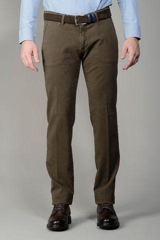 Pantalone marrone tinto capo slim Angelico