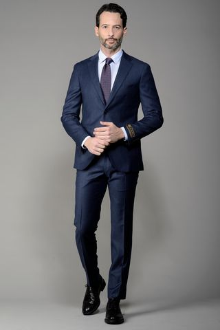 light blue suit loro piana slim Angelico