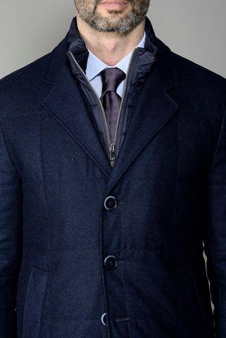 giaccone blu imbottito vitale barberis canonico Angelico