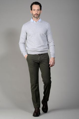 pearl grey cashmere sweater Angelico