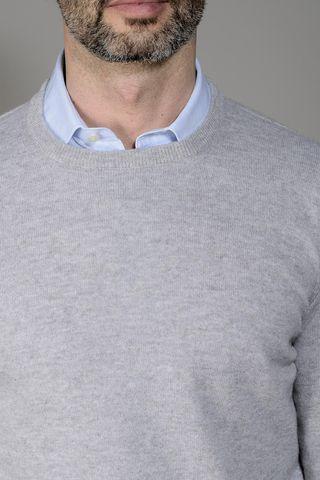 maglia grigio perla puro cashmere Angelico