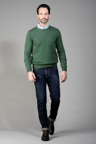 green cashmere sweater Angelico