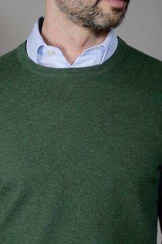 maglia verde puro cashmere Angelico