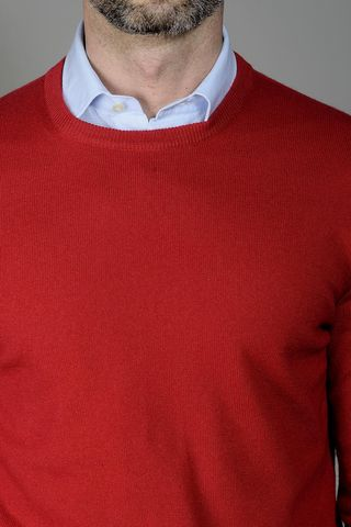 red cashmere sweater Angelico