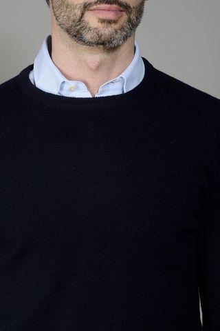 maglia blu puro cashmere Angelico