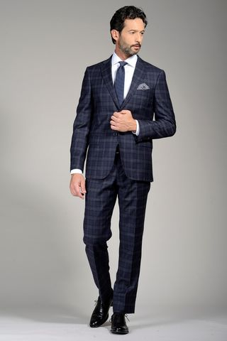 grey suit wales slim long Angelico