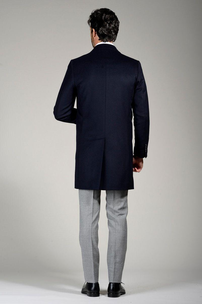 cappotto blu cashmere Angelico