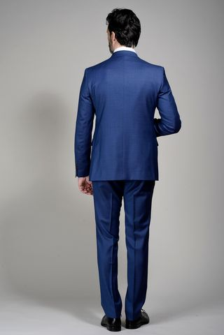 abito bluette armaturato 100s Angelico