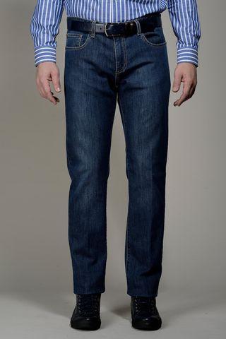 jeans 5 pockets beige stitching Angelico