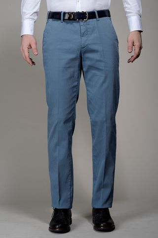 Sugar Blue trousers cannete cotton Angelico