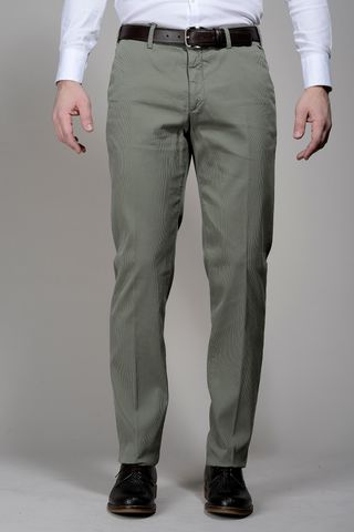 Sage green trousers cannete cotton Angelico