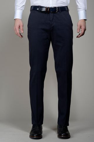 Pantalone blu cannete TC stretch Angelico
