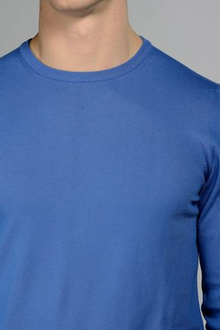 royal blue round neck pullover Angelico