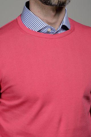 raspberry round neck cotton pullover Angelico