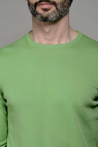 apple green round neck pullover Angelico