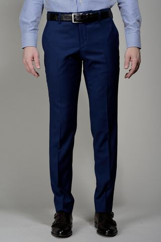 Blue wool trousers Flli Cerruti comfort Angelico