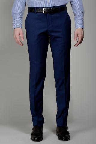 Pantalone blu Flli Cerruti comodo Angelico