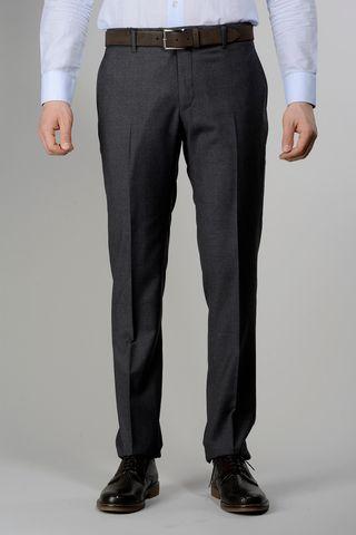 medium grey wool trousers 100s Angelico
