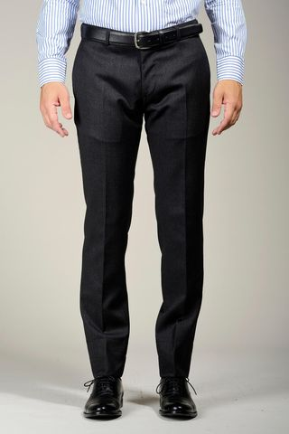 Charcoal wool trousers 100s Angelico
