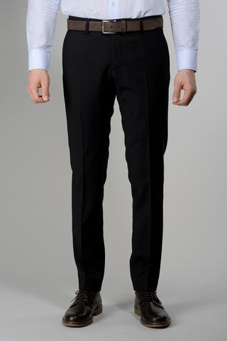 pantalone nero tela 100s Angelico