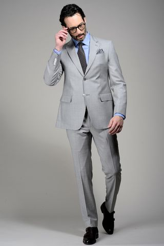Light grey suit 100s Angelico