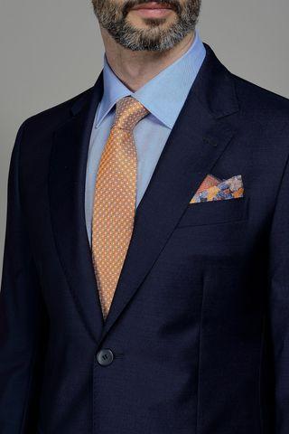 abito blu scuro fresco di lana100s Angelico