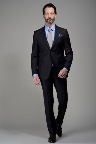 Charcoal grey suit 100s Angelico