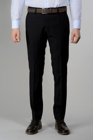 Black wool trousers 100s slim Angelico