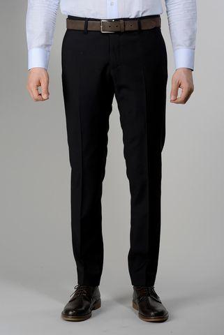 black wool trousers 100s slim Angelico