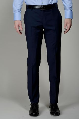 Dark blue wool trousers 100s Slim Angelico