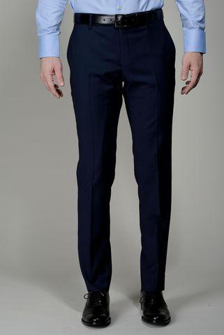 Pantalone blu scuro lana 100s Slim Angelico