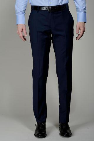 dark blue wool trousers 100s slim Angelico