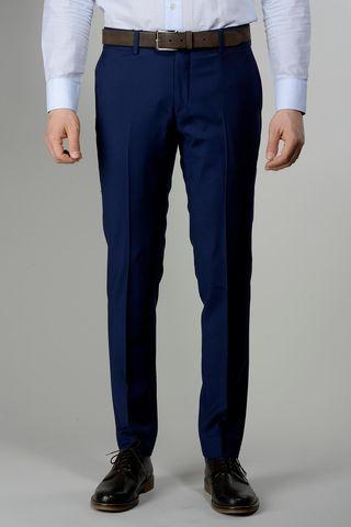 medium blue wool trousers 100s slim Angelico