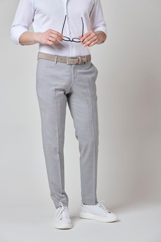 Light grey wool trousers 100s Slim Angelico