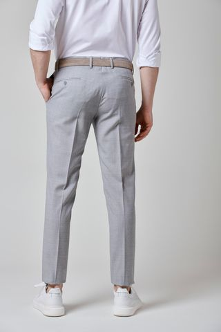 pantalone grigio chiaro tela 100s slim Angelico