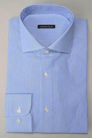 blue fine striped shirt Angelico
