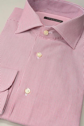 red shirt  fine stripes slim Angelico