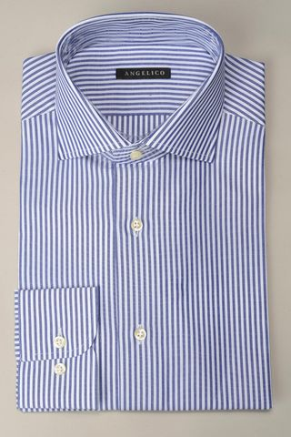 Camicia bluette riga media slim Angelico